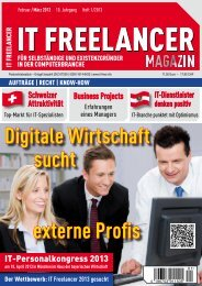 IT Freelancer Magazin Nr. 1/2013