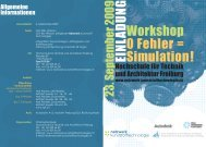 Workshop 0 Fehler = Simulation! EIN LAD U N G