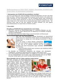 Stellungnahme zu ÖKO-TEST 10/2011- Buntstifte (STAEDTLER - boss