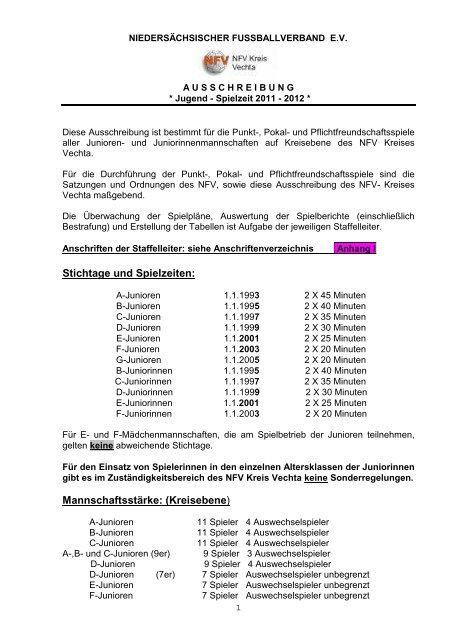 Saison 2011 2012 Ausschreibung Jugend Neu Tv Dinklage