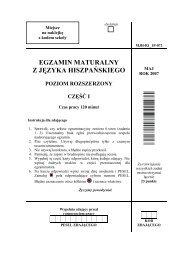 egzamin maturalny z języka hiszpańskiego poziom ... - Gazeta.pl
