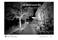 13. GeoForum BS - GVA Basel-Stadt Geoportal
