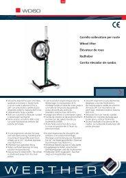 Carrello sollevatore per ruote Wheel lifter Élévateur de ... - Werther