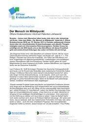 PM 09.07.2013 - Die Deutsche Krebsgesellschaft