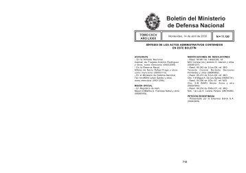 14 / 04 / 2009 - Ministerio de Defensa Nacional