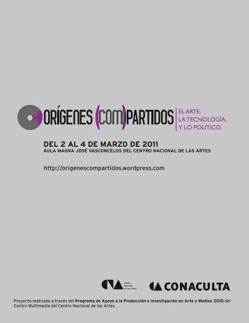 DEL 2 AL 4 DE MARZO DE 2011 - Centro Multimedia