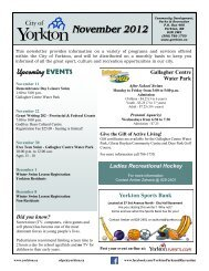 November 2012 - City of Yorkton