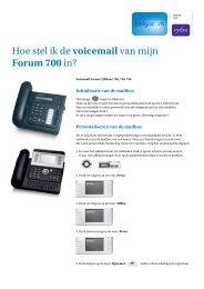Hoe stel ik de voicemail van mijn Forum 700 in? - support - Belgacom