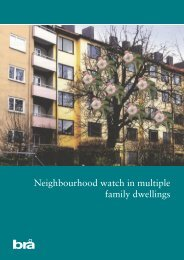 Neighbourhood watch in multiple family dwellings