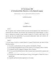 ACT of 6 January 2005 on National and Ethnic Minorities as ... - MIRIS