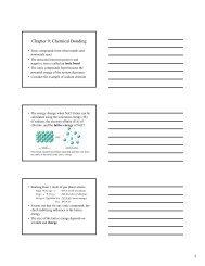 Chapter 9: Chemical Bonding