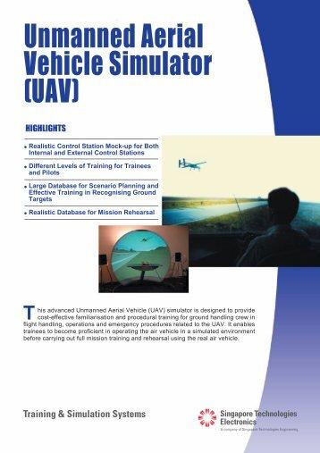 Unmanned Aerial Vehicle Simulator (UAV) [324KB] - ST Electronics ...