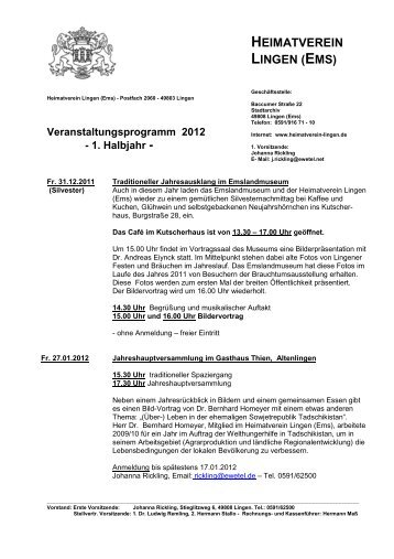 HVL Programm 2012-1 - Heimatverein Lingen