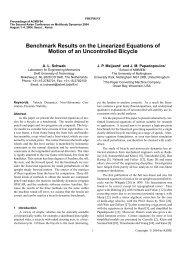 pdf(124k) - Bicycle Dynamics