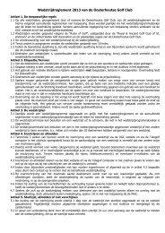 Wedstrijdreglement 2013 van de Oosterhoutse Golf Club