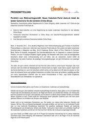 B2C-Pressemitteilung lesen - Sparwelt