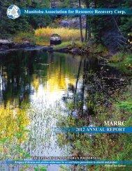 MARRC Annual Report 2012 - Alberta Used Oil Management ...