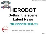 Setting the scene Latest News - HERODOT Network for Geography ...