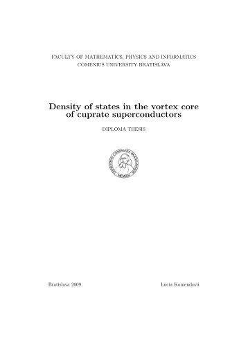 Diploma thesis - Condensed Matter Theory