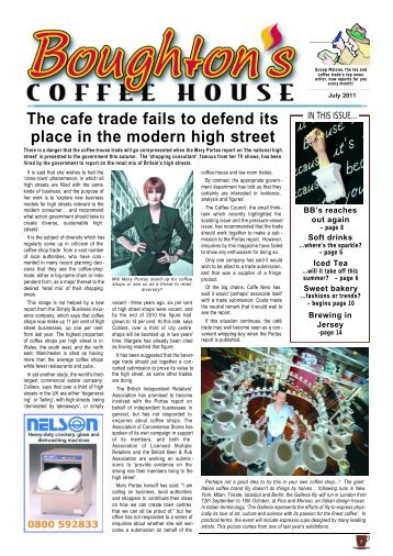 The Cafe Trade Fails To Defend Its Place - Boughton's Coffee House