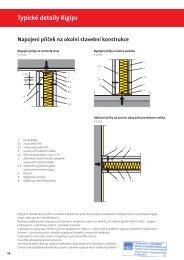 Typické detaily Rigips Kluzné napojení příčky na strop