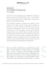 BASIN BÜLTENİ OLAF OTTO BECKER – Sıfır ... - Elipsis Gallery