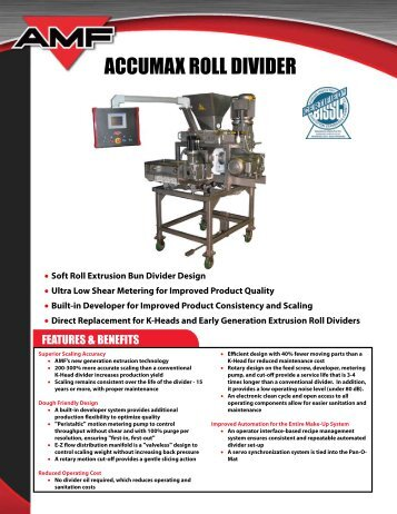 ACCUMAX ROLL DIVIDER - AMF Bakery Systems