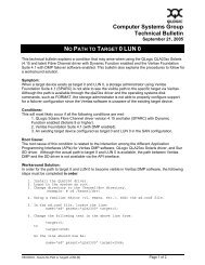 Computer Systems Group Technical Bulletin - QLogic