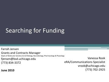Searching for Funding - University Research Administration