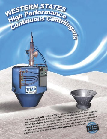 Western States TITAN Continuous Centrifugal Brochure