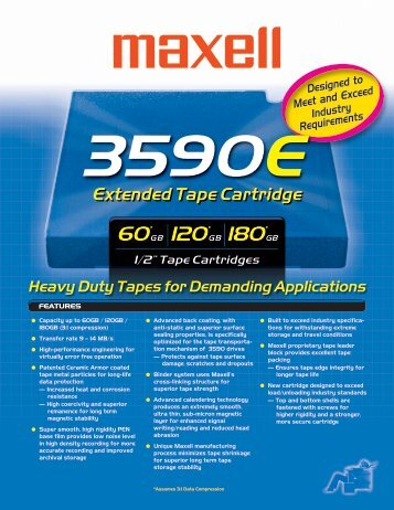 3590E Extended Tape Cartridge - Maxell Canada