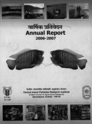 Annual Report - Central Institute of Brackishwater Aquaculture