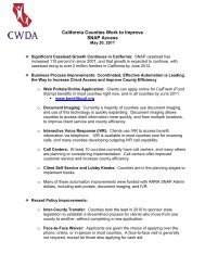California Food Stamp Access Fact Sheet - CWDA