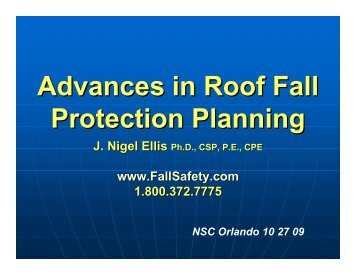 Advances in Roof Fall Protection Planning - Ellis Fall Safety Solutions
