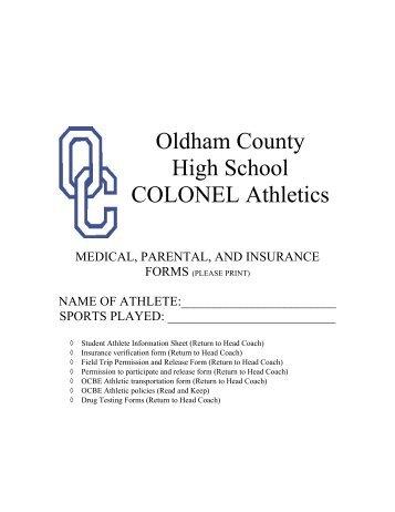 Parent Permission - Oldham County Schools