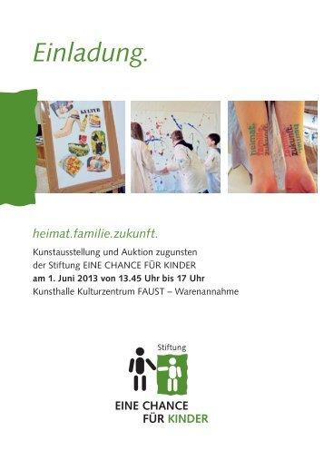 Einladung als PDF herunterladen - Stiftung EINE CHANCE FÜR ...