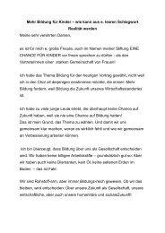 Festvortrag Gabi Bauer - Stiftung EINE CHANCE FÜR KINDER