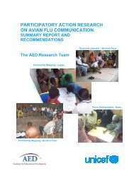 participatory action research on avian flu communication - Avian and ...