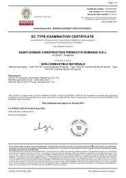 EC TYPE EXAMINATION CERTIFICATE - Isover