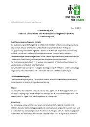 Programm als PDF - Stiftung EINE CHANCE FÜR KINDER