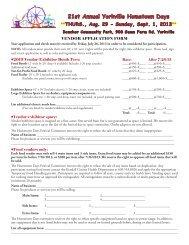 Vendor Registration Packet - Yorkville