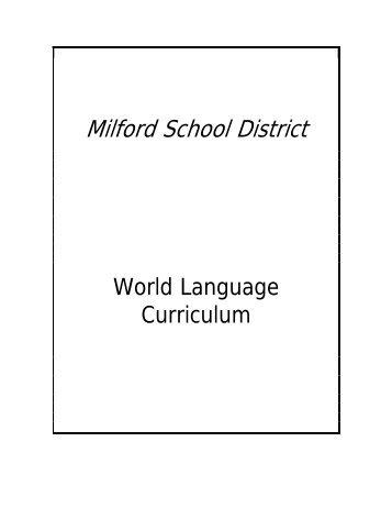 World Languages Curriculum Forumpdf District - World language curriculum