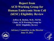 Presentation from the ACD Stem Cell Working Group(PDF – 101KB)