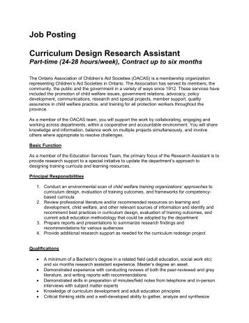 Job Description Database And Research Assistant (Part-Time) - D&Ad