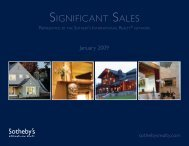 SIGNIFICANT SALES - the Members - Sotheby's International Realty