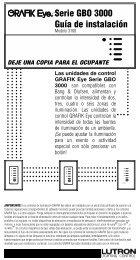 Serie GBO 3000 Guía de instalación - Lutron