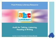Audit for Talking, Listening, Reading and Writing - Belfast Education ...