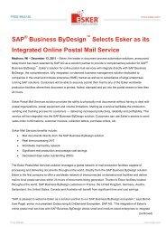 SAP Business ByDesign Selects Esker as its Integrated Online ...