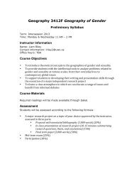 3412F syllabus - Geography, Department of - University of Western ...