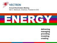 delivering managing providing investing creating - Vectren ...